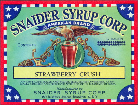 #ZLS070 - Snaider Strawberry Crush Label