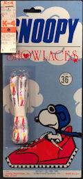 #CH405 - Large Display Card with a Pair of Licensed Snoopy Shoelaces on it