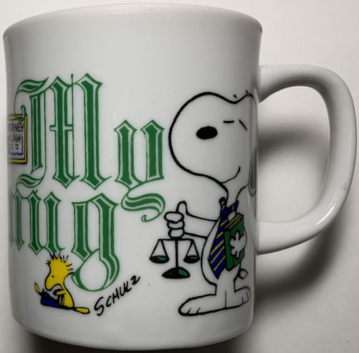 #CH446 - Snoopy and Woodstock Attorney at Law Occupational Mug - Japan