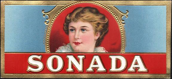 #ZLSC117 - Sonada Cigar Box End Label