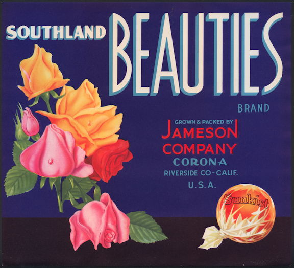#ZLC429 - Southland Beauties Orange Crate Label