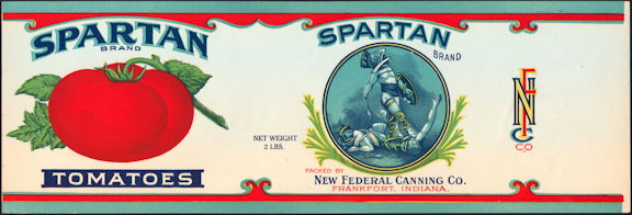#ZLCA281 - Rare Large Spartan Tomatoes Can Label