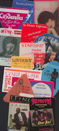 ##MUSICBP0146 - Special Deal #3 - 15 Different 1980s and 90s Cloth Backstage Passes from Well Known Music Groups