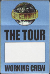 ##MUSICBP0652 - Spice Girls OTTO Cloth Backstage Working Crew Pass from the 1998 Spiceworld Tour