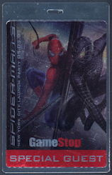 #CH364 - Laminated Pass from the New York City Launch of the Spider-man 3 Video Game - As low as $1.50 each