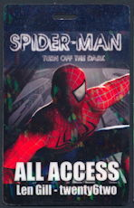 "#CH359 - Spider-Man ""Turn off the Dark"" Broadway Production Pass - As low as $2 each"