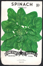 #CE074.2 - Viroflay Spinach Lone Star 10¢ Seed Pack - As Low As 50¢ each