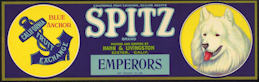 #ZLSG064 - Spitz Brand Grape Crate Label