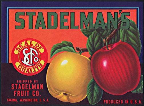#ZLC385 -Stadelman's Apple Crate Label