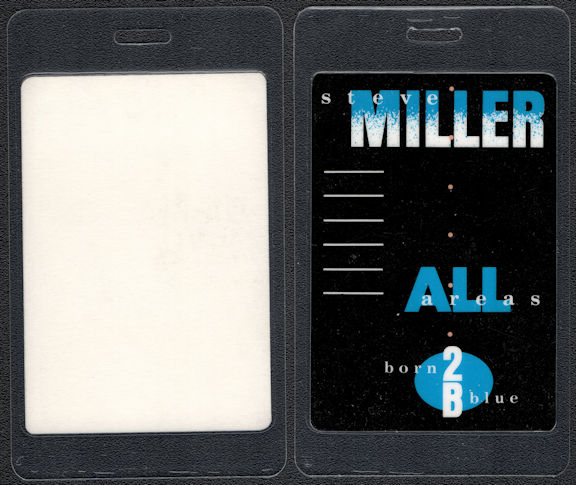 """##MUSICBP0591 - 1988 Steve Miller Band Laminated OTTO Backstage Pass from the """"Born 2B Blue"""" Tour"""