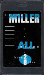 "##MUSICBP0591 - 1988 Steve Miller Band All Areas Laminated OTTO Backstage Pass from the ""Born 2B Blue"" Tour"