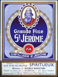 #ZLW152 - Grande Fine St. Jerome French Spirits Bottle Label