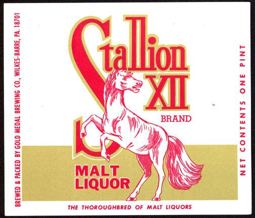 #ZLBE070 - Stallion XII Brand Malt Liquor Label