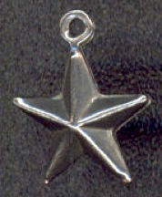 #BEADSC0261 - Tin Double Sided Star Charm - As low as 8¢