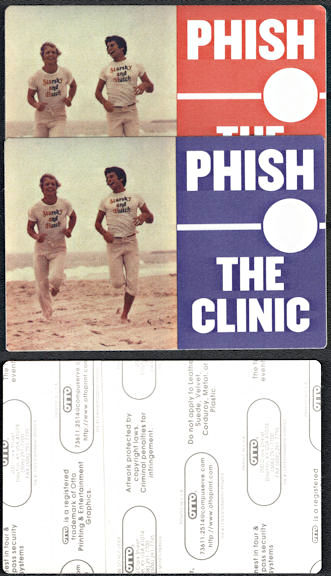 ##MUSICBP0662 - Pair of PHISH OTTO Backstage Passes from the from the 1999 Clinic Tour - Starsky and Hutch