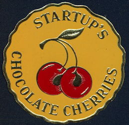 #ZBOT201 - Group of 5 Fancy Startup's Chocolate Cherries Box Seal Labels