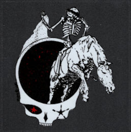 ##MUSICBP2024 - Grateful Dead Car Window Tour Sticker/Decal - Skeleton on a Horse