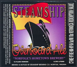 #ZLBE109 - Groups of 5 Steamship Overboard Ale Labels - Purple Version