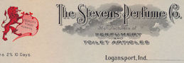 #ZZZ129 - The Stevens Perfume Company Unused Letterhead