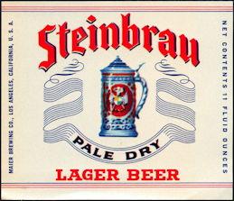 #ZLBE026 - Steinbrau Lager Beer Label
