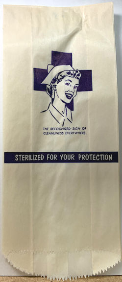 #ZZZ185 -Group of 12 Large Sterilization Bags - 1950s Nurse Pictured