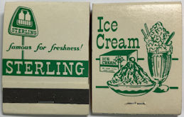 #TM106 - Pack of Front Cover Striker Matches from the Sterling Dairy in Toledo Ohio