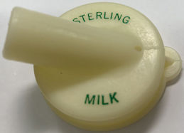 #DC243 - Rare Sterling Dairy Advertising Milk Bottle Spout - Toledo, Ohio