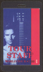 ##MUSICBP0042  - 1987-88 Sting Laminated Backstage Pass from the Nothing Like the Sun Tour