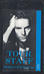 ##MUSICBP0042  - 1987-88 Sting Laminated OTTO Backstage Pass from the Nothing Like the Sun Tour