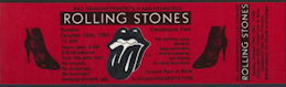 ##MUSICBP0149 - Red Rolling Stones Ticket for the Concert at Candlestick Park on Oct 18th 1981 - As low as $2.50