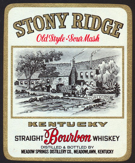 #ZLW021 - Stony Ridge Sour Mash Kentucky Bourbon Whiskey Label