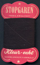 #CS354 - Very Old Netherlands Black Thread Card - As low as $1 each