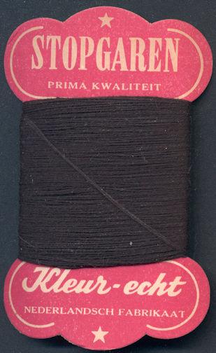 #CS354 - Very Old Netherlands Black Thread Card - As low as $1 each