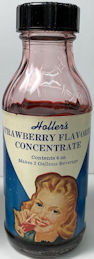 #CS469 - Full Glass Bottle of Holler's Grape Flavored Concentrate - Bakelite Lid