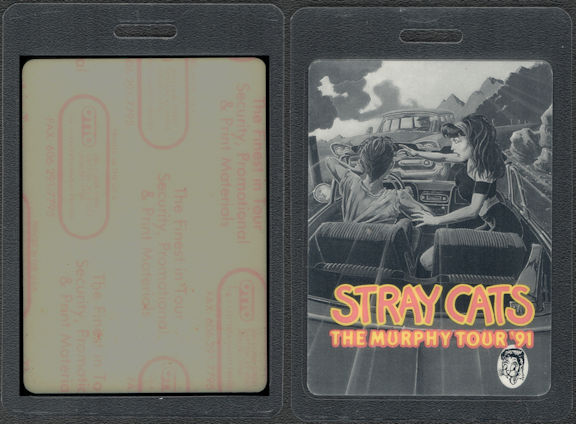 ##MUSICBP0771  - Rare Stray Cats Laminated OTTO Backstage Pass from the 1991 The Murphy Tour