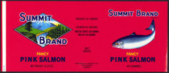 #ZLCA173 - Summit Brand Pink Salmon Can Label