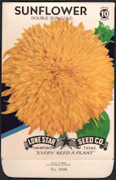 #CE031 - Double Sun Gold Sunflower Lone Star 10¢ Seed Pack - As Low As 50¢ each