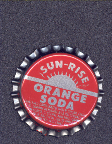 #BC108 - Group of 10 Sun-Rise Orange Plastic Lined Soda Cap - Coca Cola