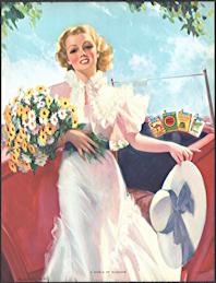 "#MS316 - Large ""A World of Sunshine"" Pinup Advertising Calendar for Cigarette Brands - Signed Bradshaw Crandell"