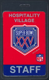 #BA722 - 1991 Super Bowl XXV Champions Laminated Backstage Pass