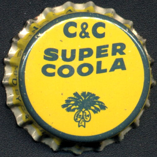 #BC185 - Group of 10 Super Coola C & C Cork Lined Soda Caps