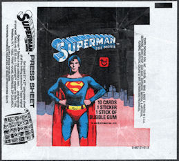 #ZZA276 - Superman 1 Card Pack Wrapper