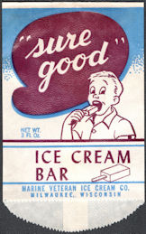 #PC097 - Group of 12 Sure Good Ice Cream Bar Wrappers