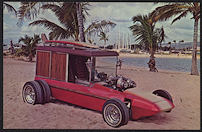 #CA500 - 1960s Surf Woody Postcard Print - George Barris