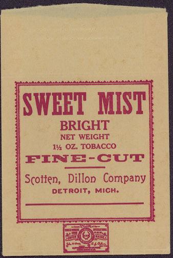 #TOP009 - Sweet Mist Fine Cut Bright Tobacco Bag