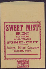 #TOP009 - Sweet Mist Fine Cut Bright Tobacco Bag