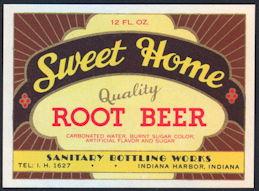 #ZLS198 - Sweet Home Root Beer Soda Bottle Label