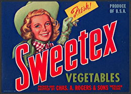 #ZLCA*049 - Sweetex Vegetables Crate Label