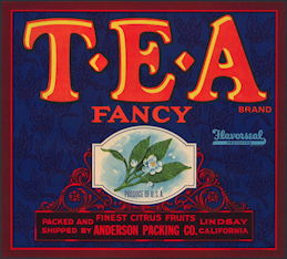 #ZLC401 - T-E-A Brand Fancy Citrus Fruits Crate Label