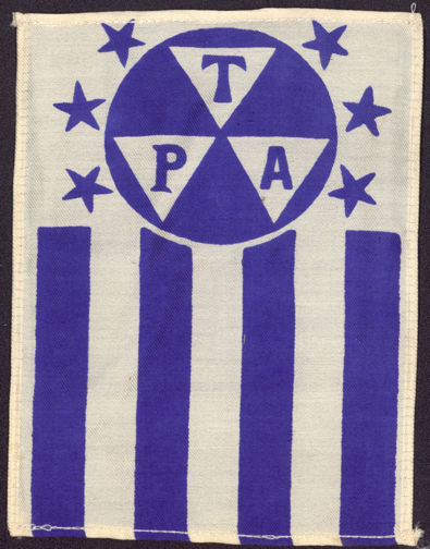 #SIGN110 - Rare Early T.P.A. (Travelers Protective Association) Very Large Silk